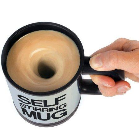 Geeek Koffie mok met mixer  - Zelfroerende Mok