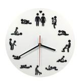 Geeek Wandklok met Sexstandjes Sex Position Clock