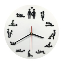 Wall Clock with Sexy Sex Positions Clock