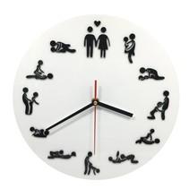 Wandklok met Sexstandjes Sex Position Clock