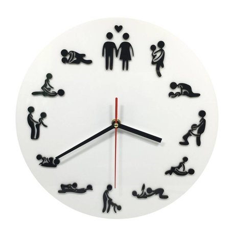Geeek Wanduhr mit Sexy Sex Positions Clock
