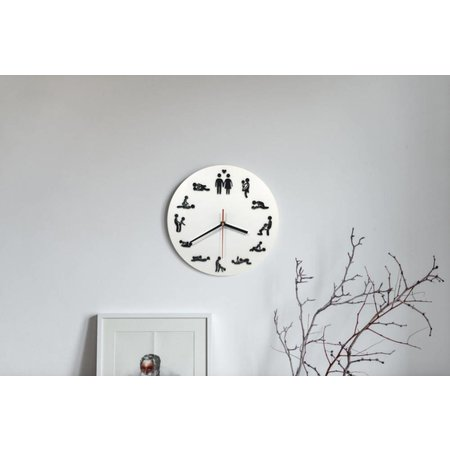 Geeek Wall Clock with Sex Stations Sex Position Clock