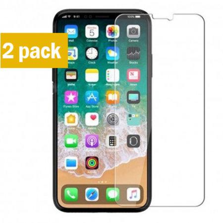Geeek Sterke Tempered Gehard Glazen Glas Screenprotector iPhone X / XS (2 pack)