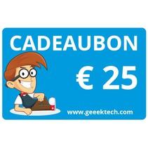 Geeektech.com 25,- Cadeaubon Cadeaukaart Voucher