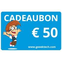 Geeektech.com 50,- Cadeaubon Cadeaukaart Voucher