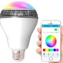 LED Lamp Playbulb with Bluetooth Speaker - RGBW
