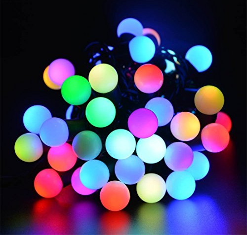 Rgb Led Christmas Lights.Geeek Bol Bulbs Light Cord Led Christmas Lights 5 Meters Rgb