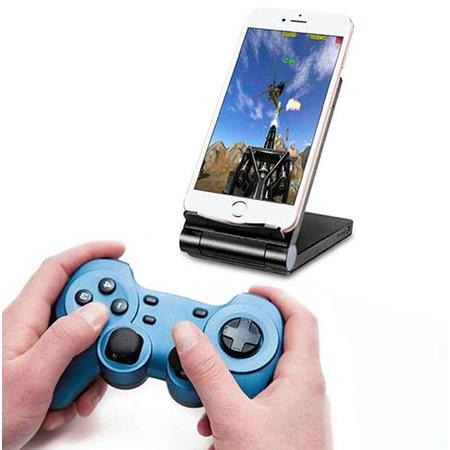 Geeek 3 in 1 Smartphone Draadloze Oplader Bureauhouder Powerbank QI Zwart