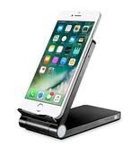Geeek 3 in 1 Smartphone Wireless Charger Desk Holder Power Bank QI Black