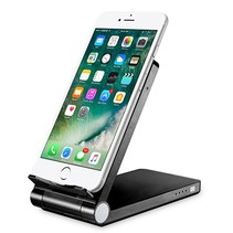 3 in 1 Smartphone Wireless Charger Desk Holder Power Bank QI Black