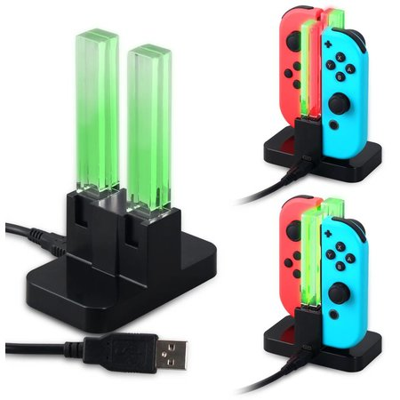 Geeek Charging Dock for 4 Switch Joy-Con Controllers