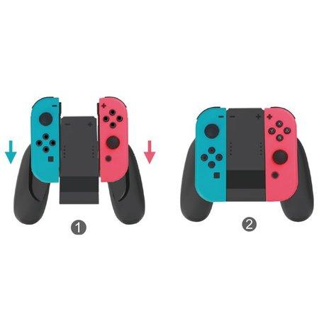 Geeek Joy-Con Charging Grip voor Nintendo Switch Zwart