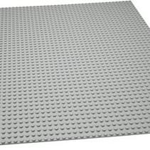 Grote Grondplaat Bouwplaat voor Lego Bouwstenen Grijs 50 x 50