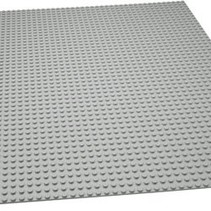 Large Baseplate Construction plate for Lego Gray 48x48