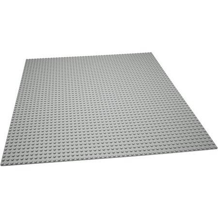 Geeek Große Grundplatte Bauplatte für Lego Grey 50 x 50