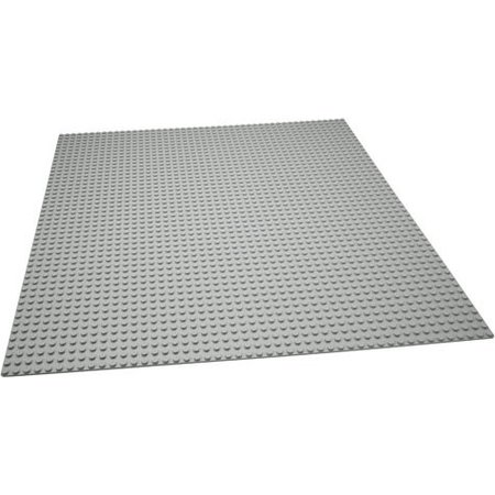 Geeek Large Baseplate Construction plate for Lego Gray 50 x 50