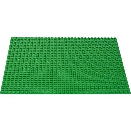 Geeek Große Grundplatte Bauplatte für Lego Bausteine Grün 50 x 50