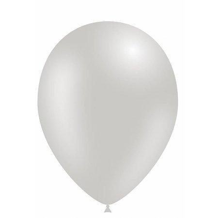 Metallic Party Balloons - Glanzende Feest Ballonnen 100 stuks Zilver