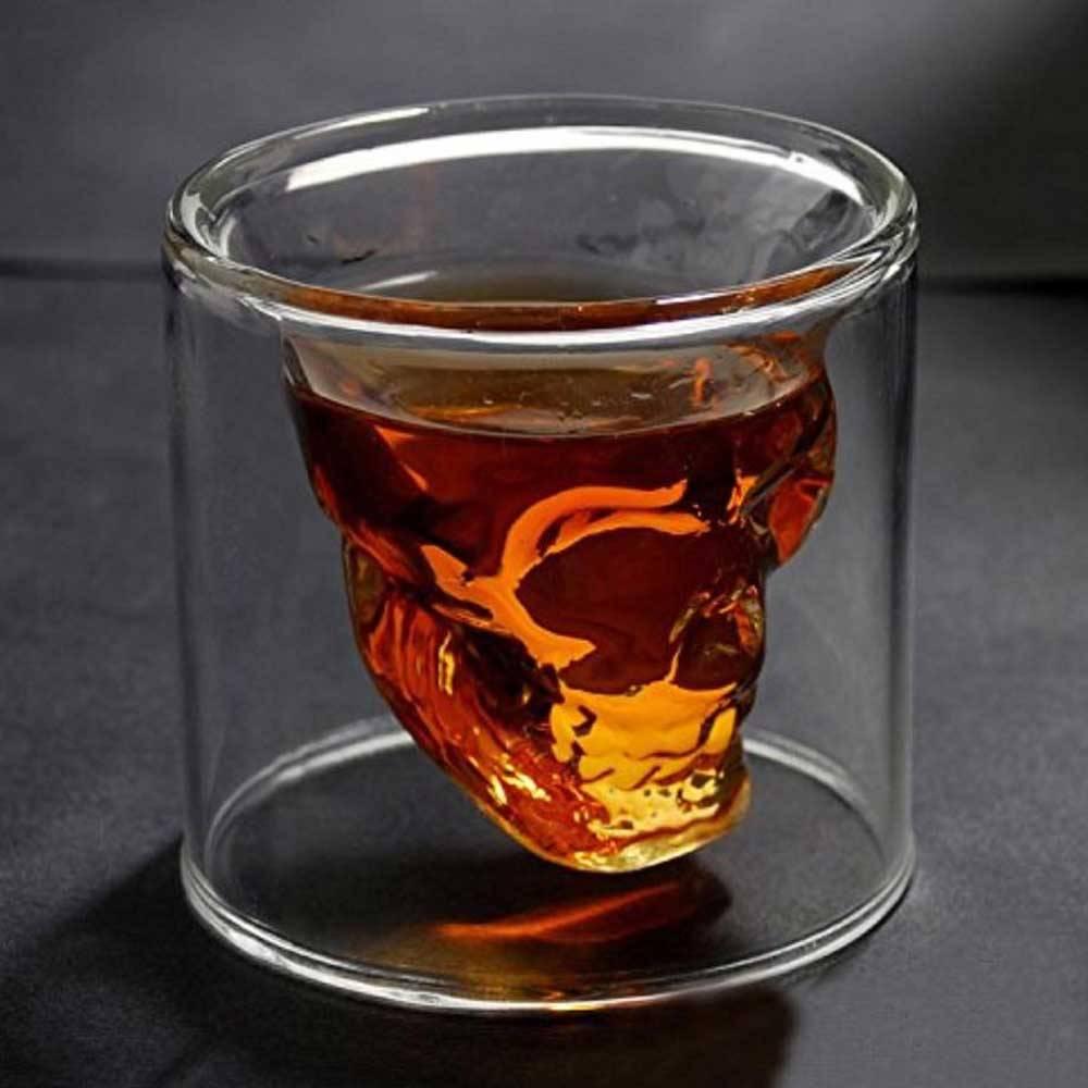 Doomed Designer Schedel Skull Borrelglas Shot Glas 2 stuks