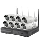 Geeek Wireless Security set with 8 Cameras Outdoor Outdoor 720p IP