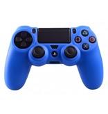 Geeek Silicone Beschermhoes voor PS4 Controller Cover Skin Blauw