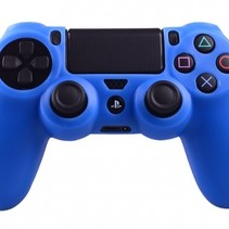 Silikonschutzhülle für PS4 KontrollerCover Skin – Blau
