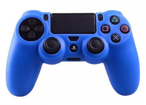 Silicone Beschermhoes voor PS4 Controller Cover Skin Blauw