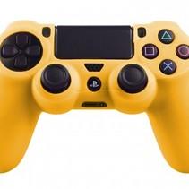 Silicone Beschermhoes voor PS4 Controller Cover Skin Geel