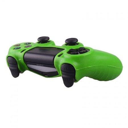 Geeek Silikonschutzhülle für PS4 Kontroller Cover Skin – Grün