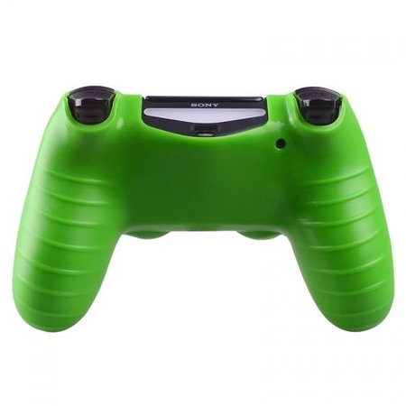 Geeek Silicone Protective Skin for PS4 Controller Cover Green