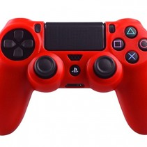 Silicone Beschermhoes voor PS4 Controller Cover Skin Rood