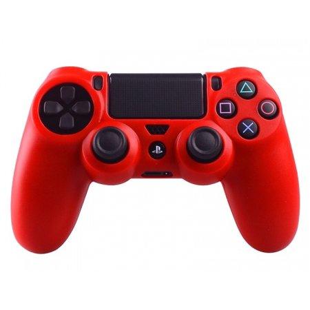 Geeek Silicone Beschermhoes voor PS4 Controller Cover Skin Rood