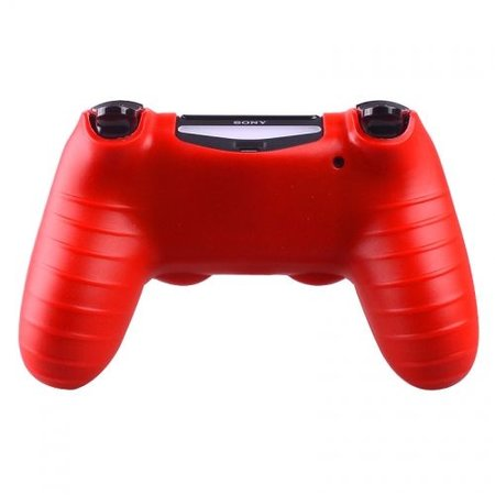 Geeek Silicone Protective Skin for PS4 Controller Cover Red