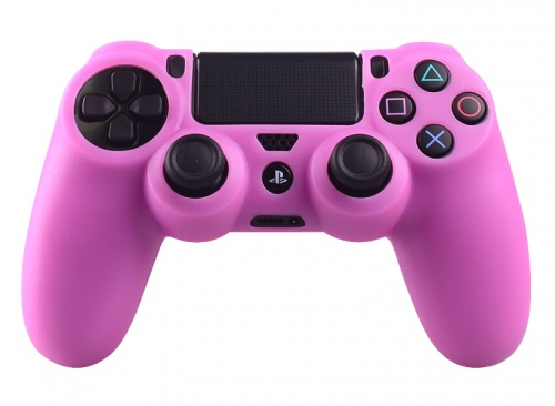 Silicone Beschermhoes voor PS4 Controller Cover Skin Roze