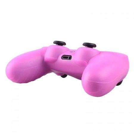 Geeek Silikonschutzhülle für PS4 Controller Cover Skin Rosa