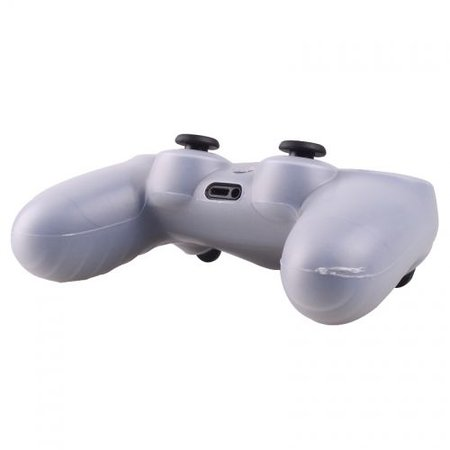 Geeek Silicone Protective Skin for PS4 Controller Cover Transparent