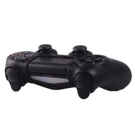 Geeek Silicone Case for PS4 Controller Cover Skin Black