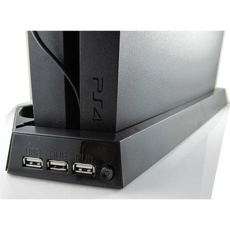 Geeek Verticale Dock met Koelventilator en Oplader voor PS4 gameconsole