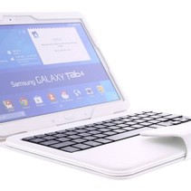 Bluetooth Keyboard / Case / Cover for Samsung Galaxy Tab 4 - 10.1 Inch - White