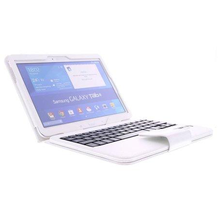 Geeek Bluetooth Toetsenbord / Case / Cover voor Samsung Galaxy Tab 4 -10.1 Inch - Wit