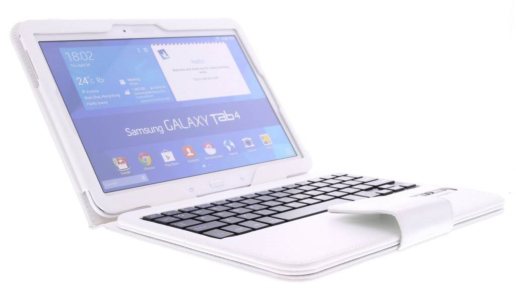 c43991646d5 Geeek Bluetooth Keyboard / Case / Cover for Samsung Galaxy Tab 4 - 10.1  Inch -