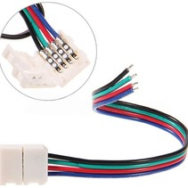 Led Strip Connector Kabel RGB Kleur 5 Stuks