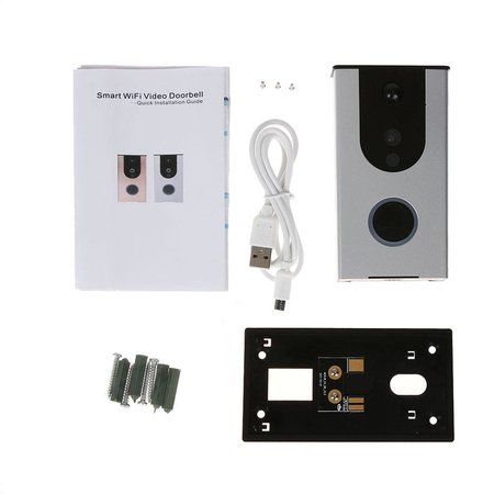 Geeek HD Smart Wifi Draadloze Video Deurbel 720P incl. 3000mAh Accu Waterdicht