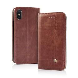Geeek Smart Prestige Wallet Case für iPhone 7/8 Braun