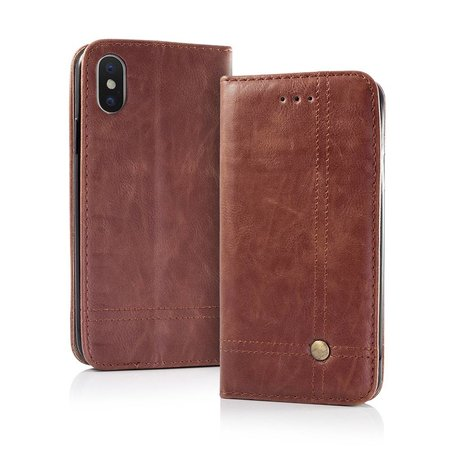Geeek Smart Prestige Wallet Case für iPhone 7/8 Braun