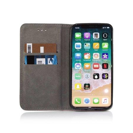 Geeek Smart Prestige Wallet Case für iPhone X / XS Grau