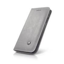 Smart Prestige Wallet Case für iPhone X / XS Grau