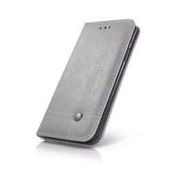 Geeek Smart Prestige Wallet Case voor iPhone X / XS Grijs