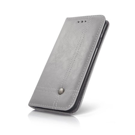 Geeek Smart Prestige Wallet Case für iPhone X / XS Grau