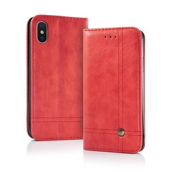 Geeek Smart Prestige Wallet Case voor iPhone X Rood